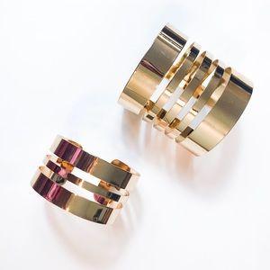 Set of Gold Cuffs